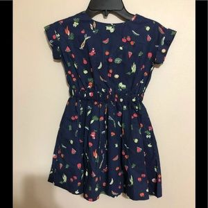 Crewcuts Vegetable Print Dress Open Back Pockets